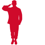 Soldier Graphic that is Saluting