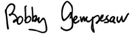 Bobby Gempesaw signature