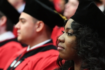 Students seated at Law School Commencement ceremony