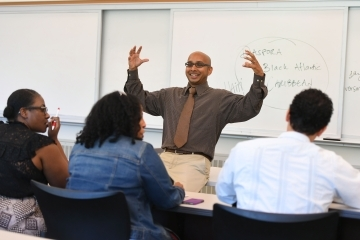 Professor Chetty teaching a class