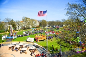 Campus During Spring Carnival