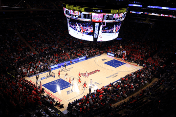 Overhead shot of MSG court