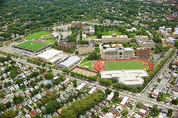 Ariel View of Queens Campus