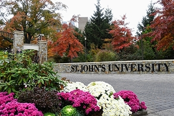 St. John's University Gate in the Spring