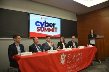 2019 CPS Cyber Summit panelists talking