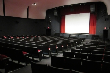 Side shot of empty theater