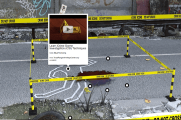 Interactive Hotspots Used to Create a Digitally Mediated Crime Scene Experience