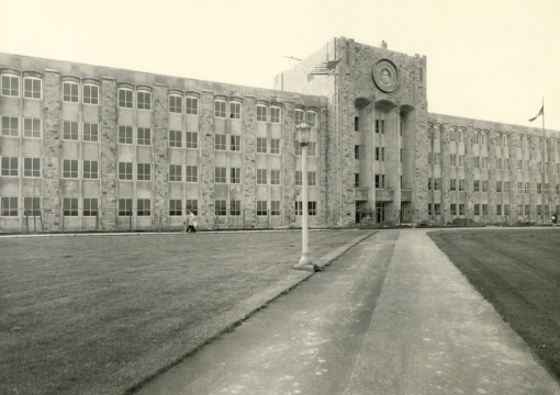 Black and White image of St. Augustine Hall