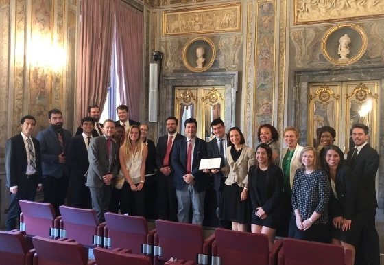 2018 St. John's Law Rome Summer Program Participants