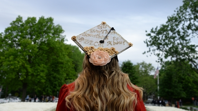 Female student in graduation cap