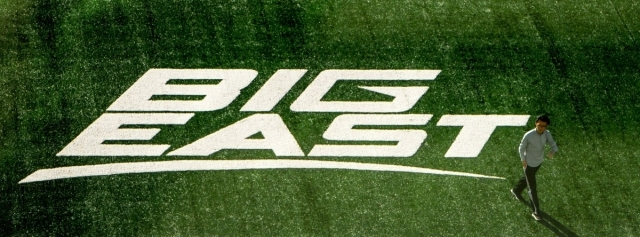 BIG EAST painted on the grass