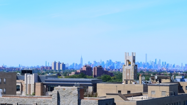 Skyline of Manhattan from St. John's Campus