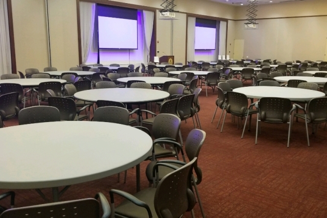 D'Angelo Center 416ABC setup with banquet tables 960x640
