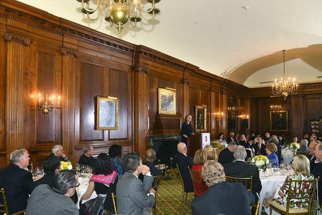 2019 Founder's Society Dinner room