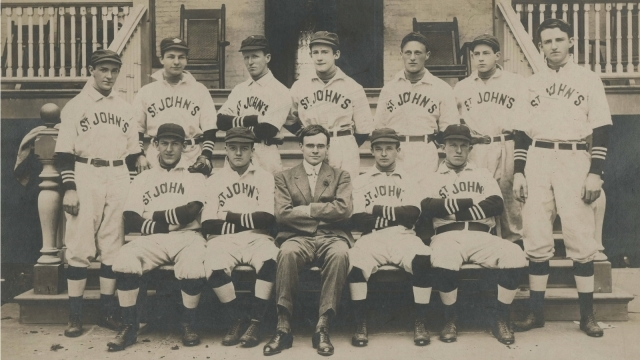 Archives page image St. John's Baseball team archival photo