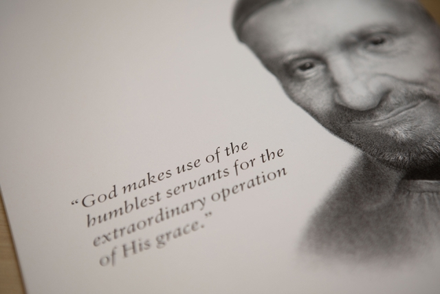 Rome Commencement Exercises program portrait of St. Vincent de Paul