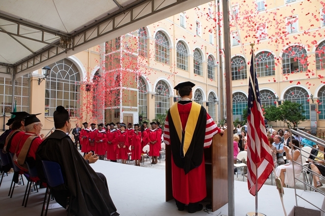 View from Rome Commencement stage