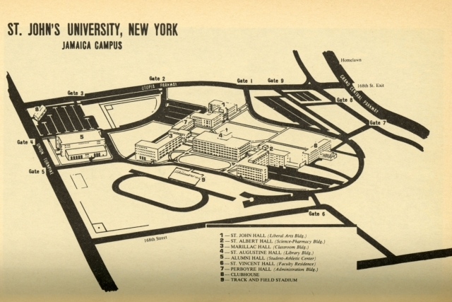 960x640 Map of Queens Campus in 1969