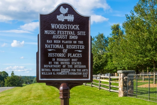 Sign of Woodstock Festival Site