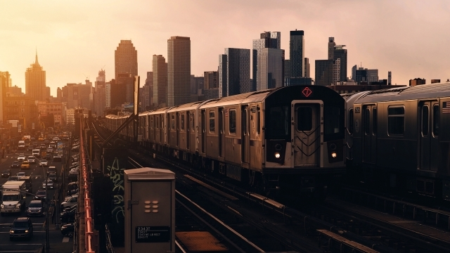 Subway train in Queens