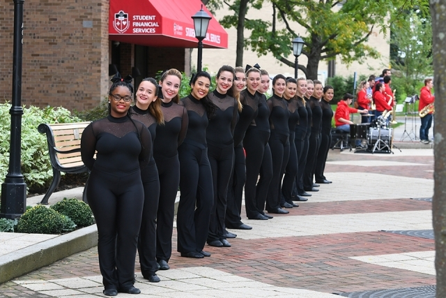 Dance Team in a line