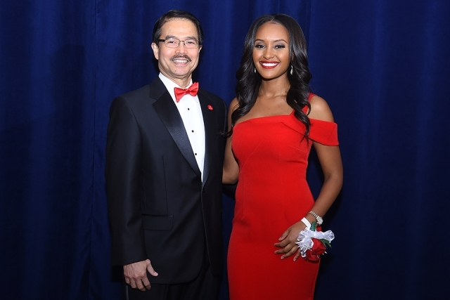 President Gempesaw and Rahel Solomon '10TCB