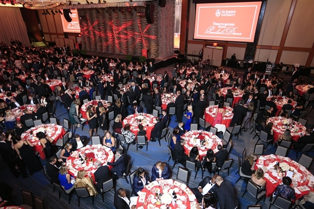Bird's eye view of the St. John's University 2019 President's Dinner