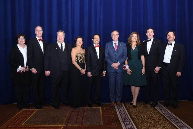 President Gempesaw and guests at the St. John's University 2019 President's Dinner