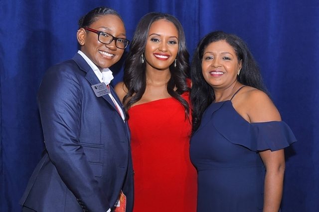 Rahel Solomon '10TCB and guests at the St. John's University 2019 President's Dinner