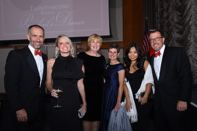 Dean Simons and guests at the St. John's University 2019 President's Dinner