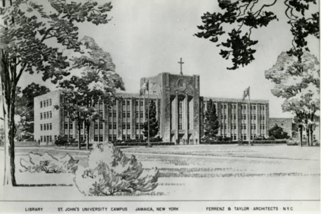 Architectural drawing of St. Augustine Hall