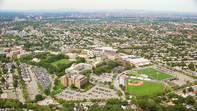 Aerial View Queens Campus
