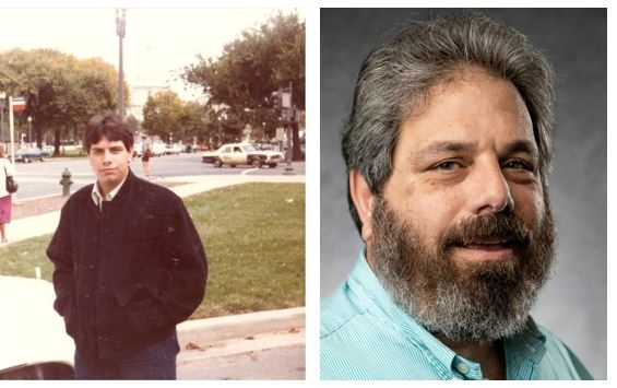Alumni Joseph Barone picture from 1983 and current picture to show then and now