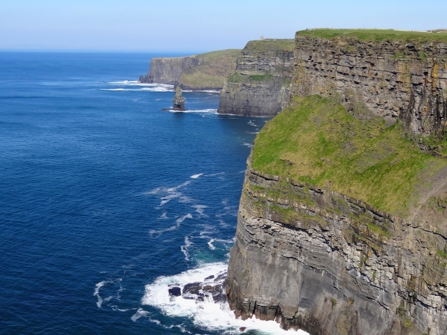 cilffs of Ireland overlooking blue water