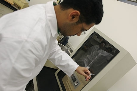 Pharmacy Student in Lab