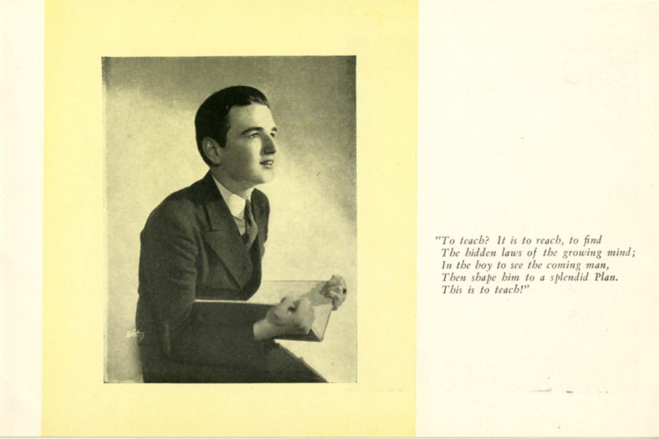 Page from an advertising brochure for St. John's Prep, c.1930.