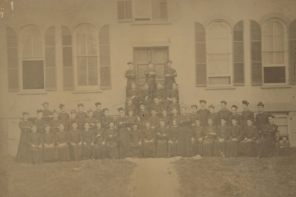 Photograph of the Seminary of St. John the Baptist, class of 1892.