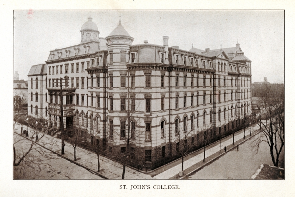 Seminary wing attached to St. John's College Hall