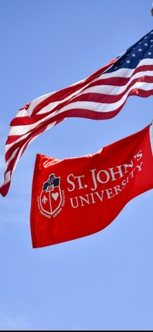 American and St John's University Flag