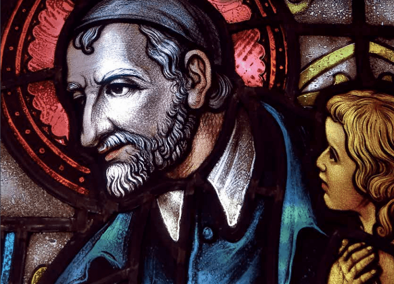 St. Vincent de Paul mosaic stain glass