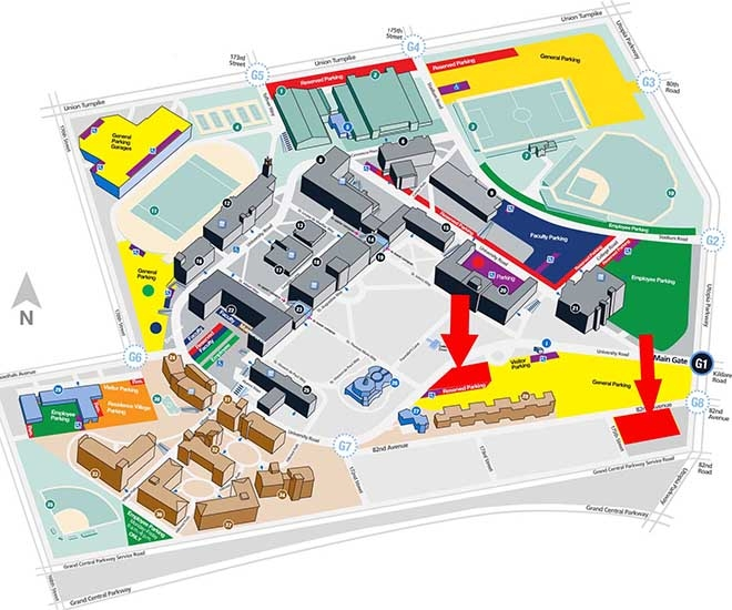 Parking map of campus