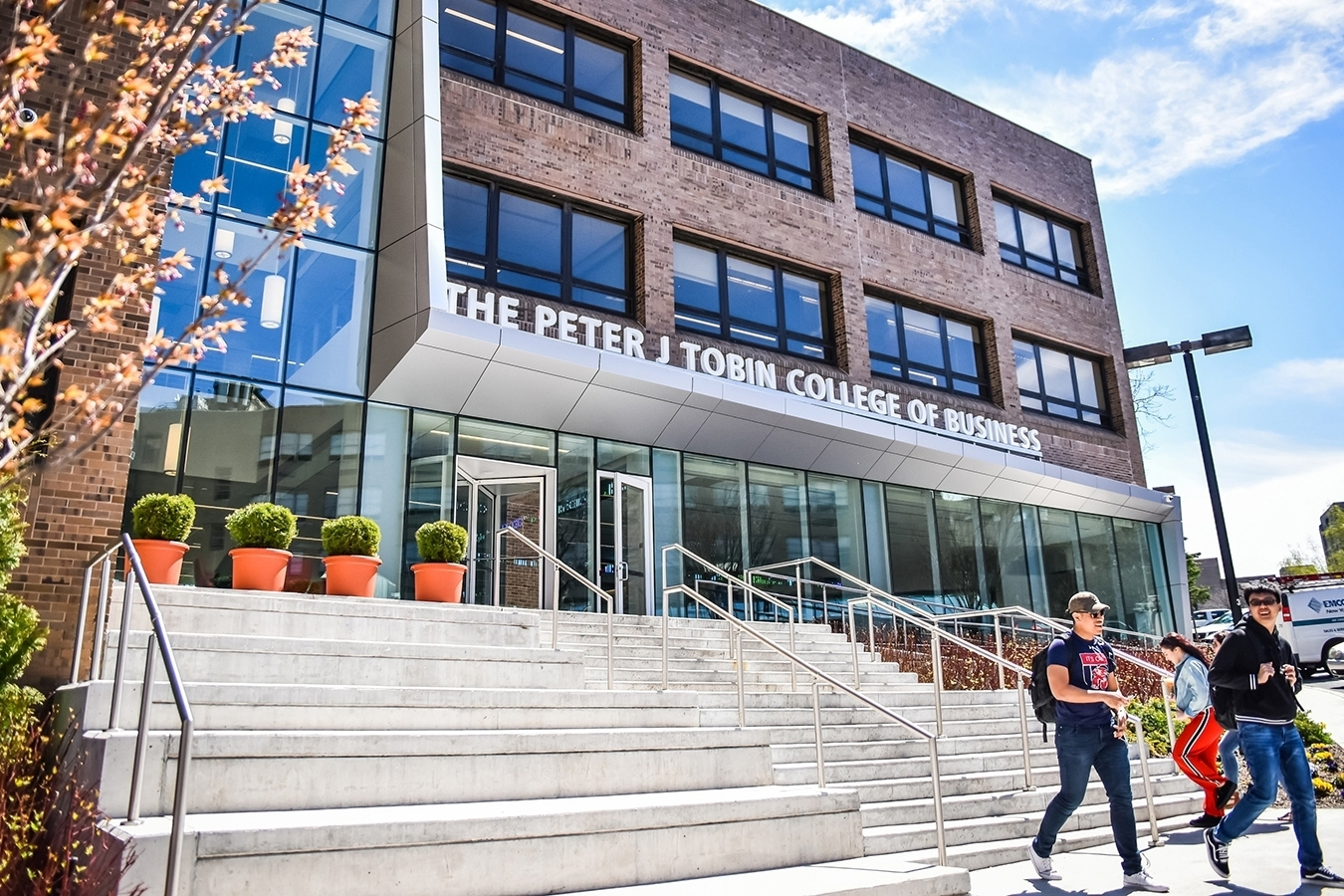 The Peter J. Tobin College of Business entrance