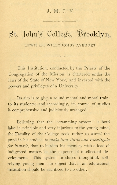 A page from the1880-1881 course catalog.